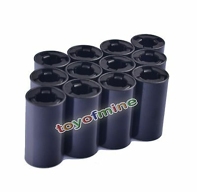 12 Pcs New Cell Battery Adaptor Converter Case AA to C Size Battery Holder Case