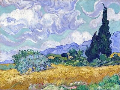 6509.Vincent van gogh painting of field.soft colors.POSTER.art wall decor