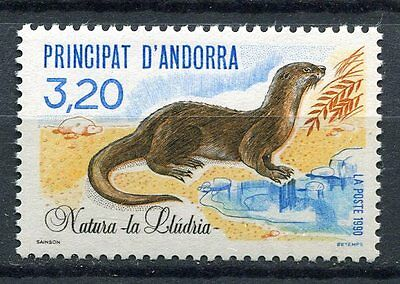 Timbre Andorre France Neuf N° 394  ** Faune  Loutre