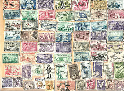 Lot of  Sixty-Four OLDER United States Canceled Postage Stamps Lot #W3