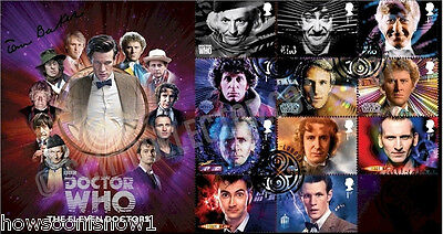 2013 50th Anniv. 11 Doctors Dr Who First Day Stamp Cover BY Signed TOM BAKER