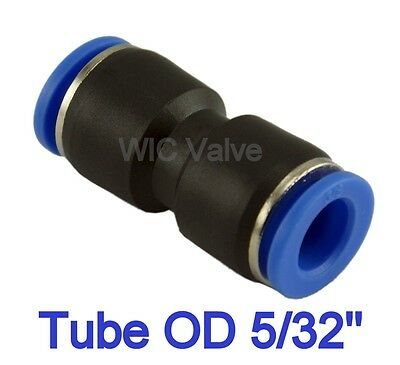 "5pcs Pneumatic Straight Union Tube OD 5/32"" Air Push In To Connect Fitting"