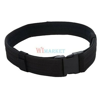"NEW 2"" Police Security Tactical Combat Gear Utility Nylon Duty Belt SWAT Black"