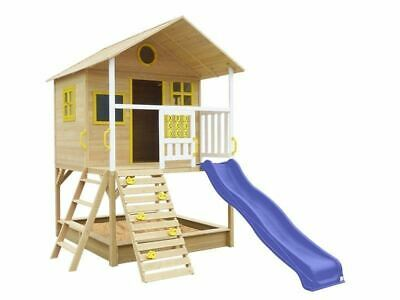 Lifespan Kids Warrigal Cubby House With Slide And Sandpit Backyard Blue