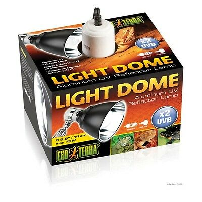 Exo Terra Light Dome Fixture - UV Bulb Reflector Lamp Holder - Vivarium Bracket