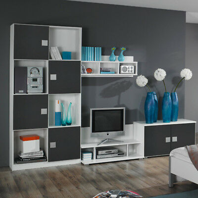 rauch kinderzimmer jugendzimmer grau wei wohnwand kinderm bel jugendm bel eur 485 10. Black Bedroom Furniture Sets. Home Design Ideas