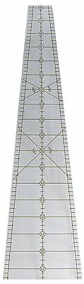 """Phillips 10 DEGREE 25"""" WEDGE Quilt Ruler 36 Wedges = 50"""" Circle Angled Designs"""