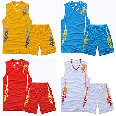 Childrens Fashion New Sport Wear Basketball Jersey Vests + Shorts Suits VG0001