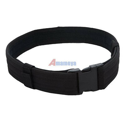 "NEW 2.3"" Police Security Tactical Combat Gear Utility Nylon Duty Belt SWAT Black"