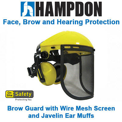 Brow Guard - Wire Mesh Screen - Javelin Ear Muffs – Head Protection - OSS8M06