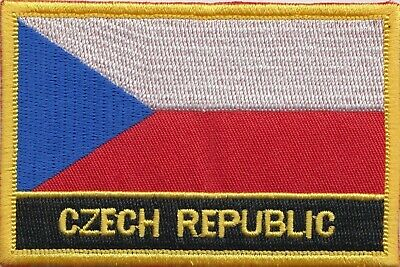 Czech Republic Flag Embroidered Patch Badge - Sew or Iron on