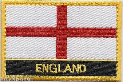 England Flag Embroidered Patch Badge - Sew or Iron on