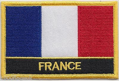 France Flag Embroidered Patch Badge - Sew or Iron on