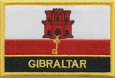 Gibraltar Flag Embroidered Patch Badge - Sew or Iron on