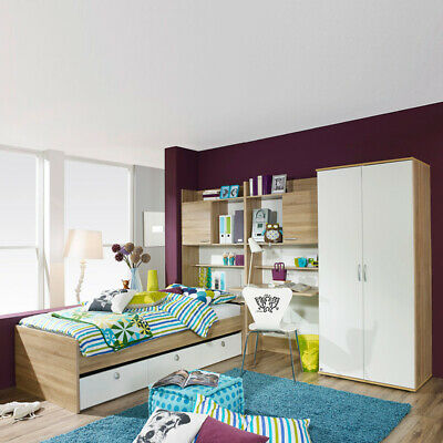 komplett kinderzimmer jugendzimmer wei brombeer. Black Bedroom Furniture Sets. Home Design Ideas