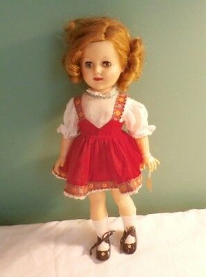 """Vintage 15"""" Shirley Temple By Ideal ST-15-N On Back Of Head '50s"""