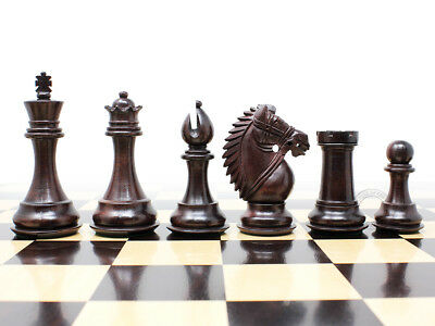 """Wooden Chess Set Pieces Rose Wood Rio Staunton 4"""" + Extra Queens House of Chess"""