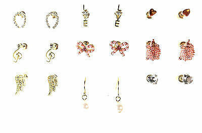 9 Pairs Ladies Fashion Brand New Carded Earrings Set Love Horseshoe Zx32
