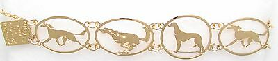 Saluki Jewelry Gold Bracelet  by Touchstone
