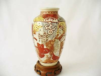 19th c Meiji Period Oriental / Japanese Kutani Vase - Figural Decoration