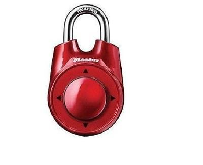 Red Master Lock Speed Dial Movement Combination Security Padlock 1500iD