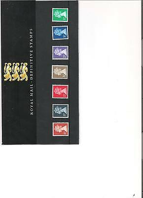 1990 Royal Mail Presentation Pack Definitive Pack No 22 Mint Decimal Stamps