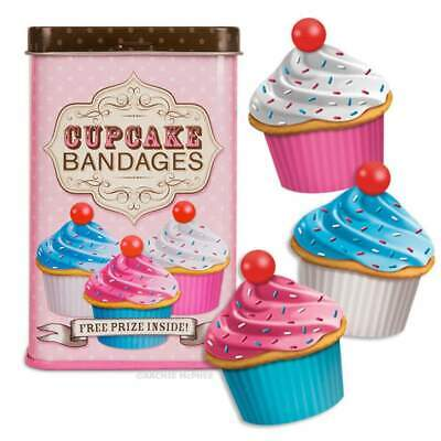 Cupcake Bandages Band Aids Rockabilly Novelty Cute Kids Gift Kitsch