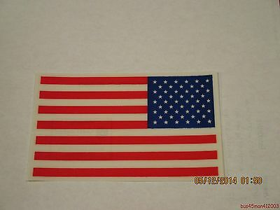 10-3x5 American Flag Vinyl Decals-No glue/adhesives. Apply to window-Made in USA