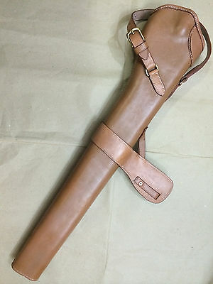 WWI WWII 303 SMLE S.M.L.E. Rifle LEATHER BUCKET - MID BROWN (LIGHT TAN)