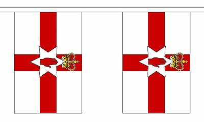 NORTHERN IRELAND 3 METRE BUNTING 10 FLAGS flag 3M BELFAST