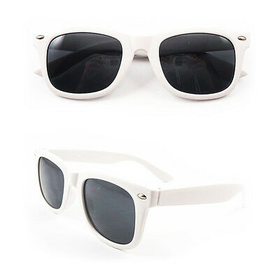Childrens Kids White Stylish Wayfarer classic Style UV400 Sunglasses Shades