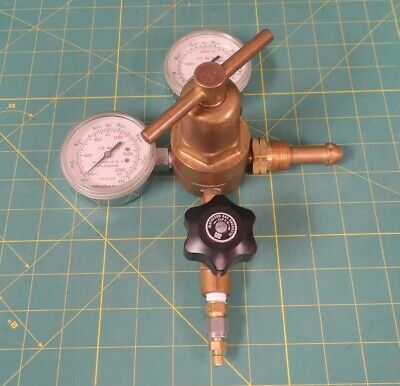 Matheson 3-580 Pressure Regulator Assembly w/ Shut-Off Valve   CGA-590