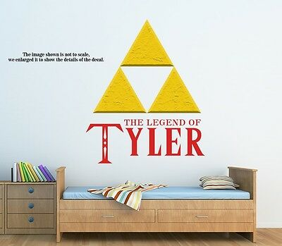 Personalized Legend of Zelda Triforce Wall Decal