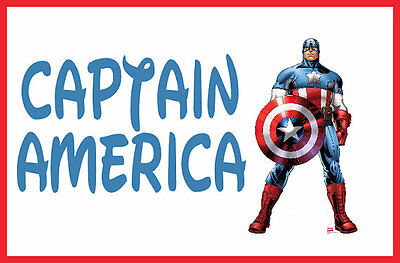Personalized CAPTAIN AMERICA Hero Boys Tag Luggage Backpack Lunch Back to School
