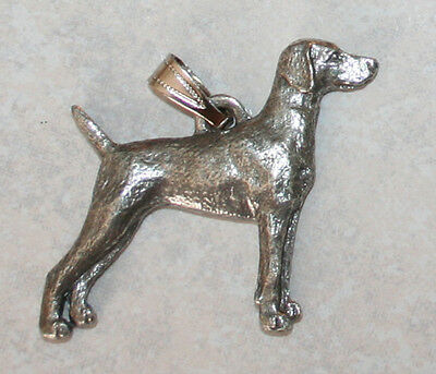 WEIMARANER Dog Harris Fine Pewter Pendant USA Made
