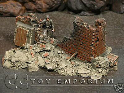 Build-a-Rama 1:32 Hand Painted Bombed Out Building #1