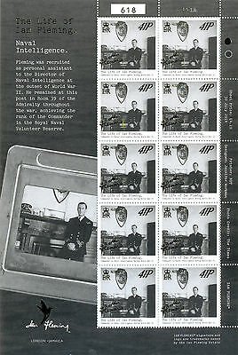 Alderney-Ian Fleming-James Bond New issue 2014 set of 6 sheets mnh