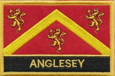 Anglesey Ynys Môn Wales County Flag Embroidered Patch Badge - Sew or Iron on