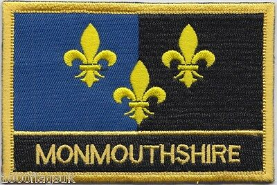 Monmouthshire Wales Flag Embroidered Patch Badge - Sew or Iron on