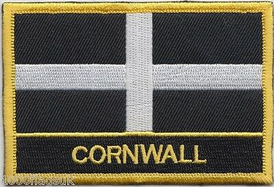 Cornwall County Flag Embroidered Patch Badge - Sew or Iron on