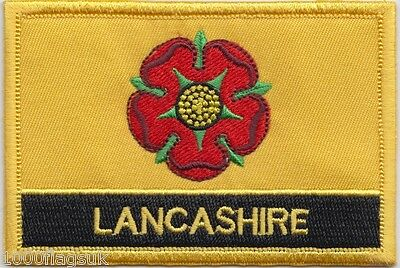 Lancashire County Flag Embroidered Patch Badge - Sew or Iron on