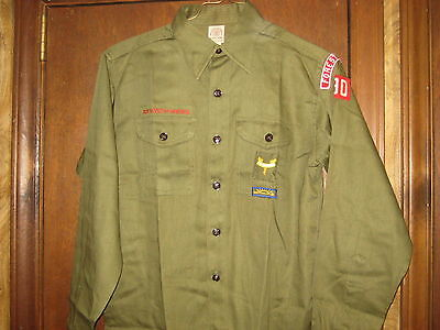 1950's Boy Scout Long Sleeve Shirt With Insignia      A43