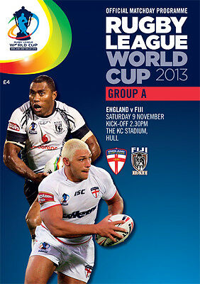 * 2013 RUGBY LEAGUE WORLD CUP - ENGLAND v FIJI - OFFICIAL PROGRAMME *