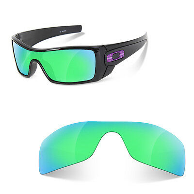 Polarized  Engravin Replacement Lenses for OAKLEY Batwolf  sapphire green color