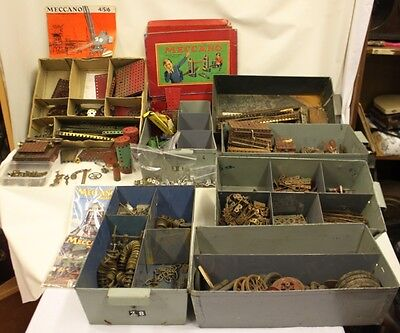 Job Lot / Large Selection Of Vintage Old Meccano Set Parts Some Rare