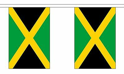 JAMAICA 3 METRE BUNTING 10 FLAGS flag 3M JAMAICAN CARIBBEAN KINGSTON
