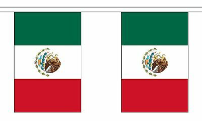 MEXICO 3 METRE BUNTING 10 FLAGS flag 3M MEXICAN