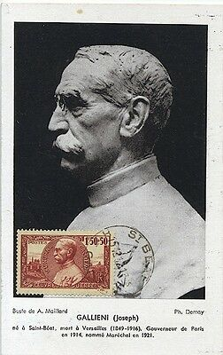 Carte-maximum France n° 456 - Joseph Galliéni (26315)