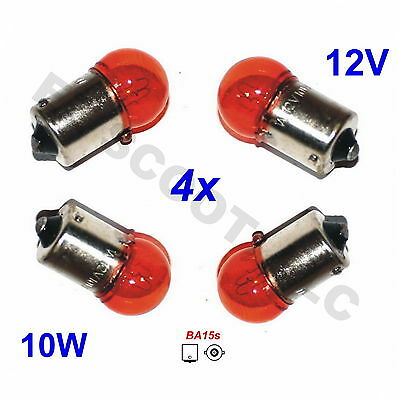 Set Of 4 Oem Orange Blinker Turn Signal Light Bulbs Lamp Gy6 Scooter Kazuma Bms