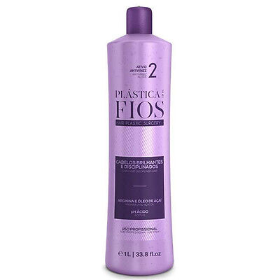 CADIVEU PLASTICA DOS FIOS  BRAZILIAN KERATIN SINGLE BOTTLE STEP 2 (34oz) 1000ml